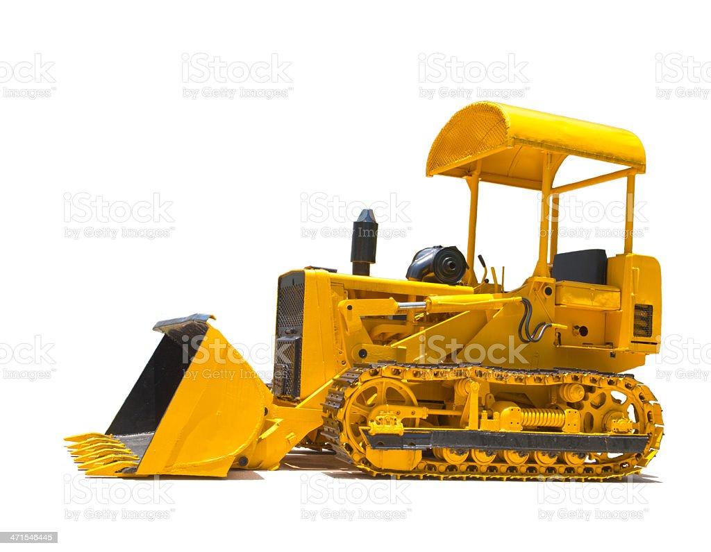 excavator isolated on white royalty-free stock photo