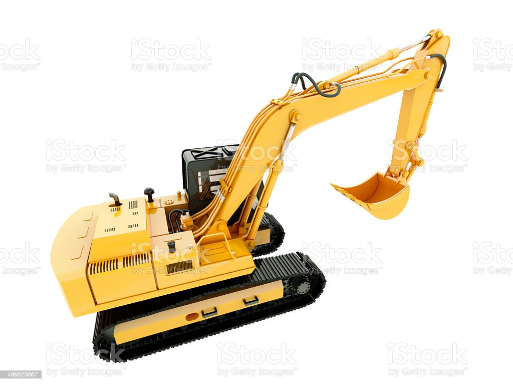 Excavator isolated stock photo