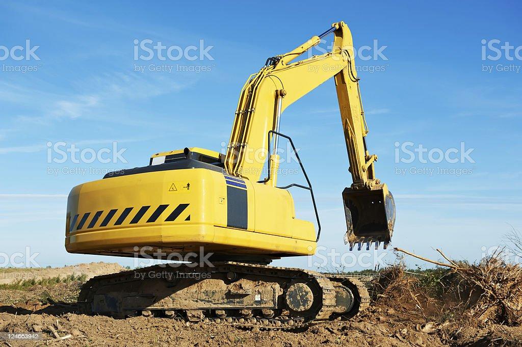 excavator loader at work royalty-free stock photo