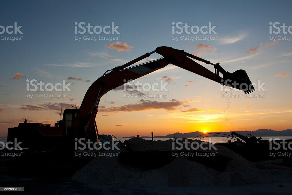 excavator machine stock photo