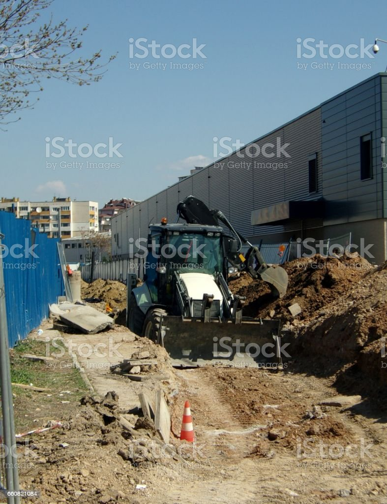 938- Excavator machine stock photo