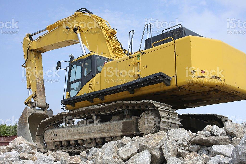 Excavator, Rear Quarter View royalty-free stock photo