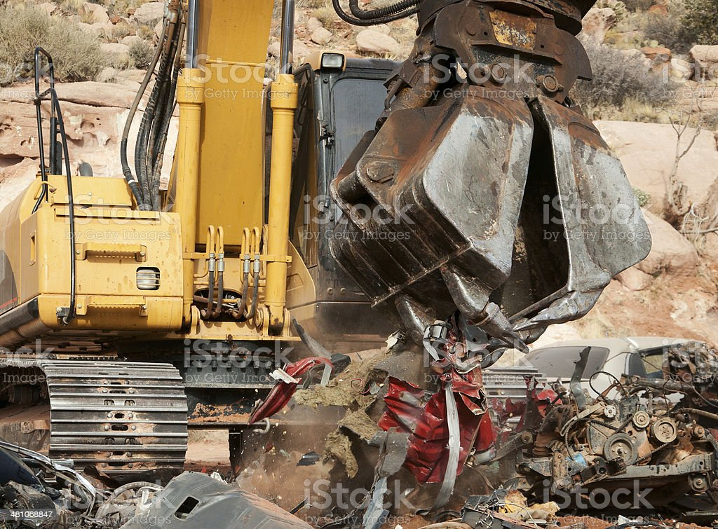 Excavator Recycling stock photo