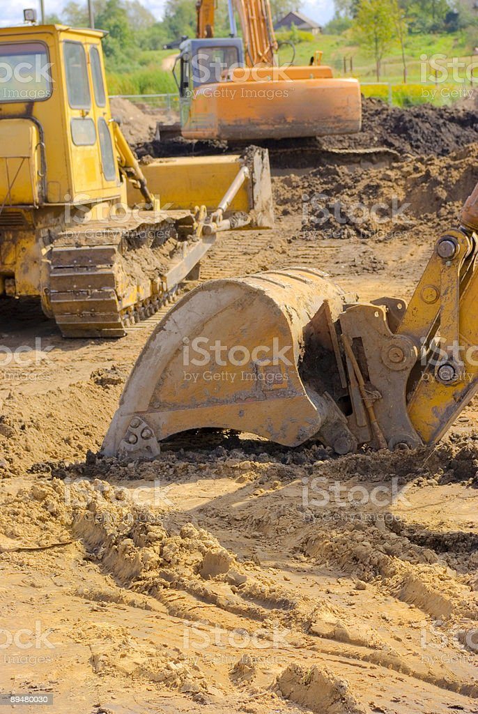 Excavator relaxation royalty-free stock photo