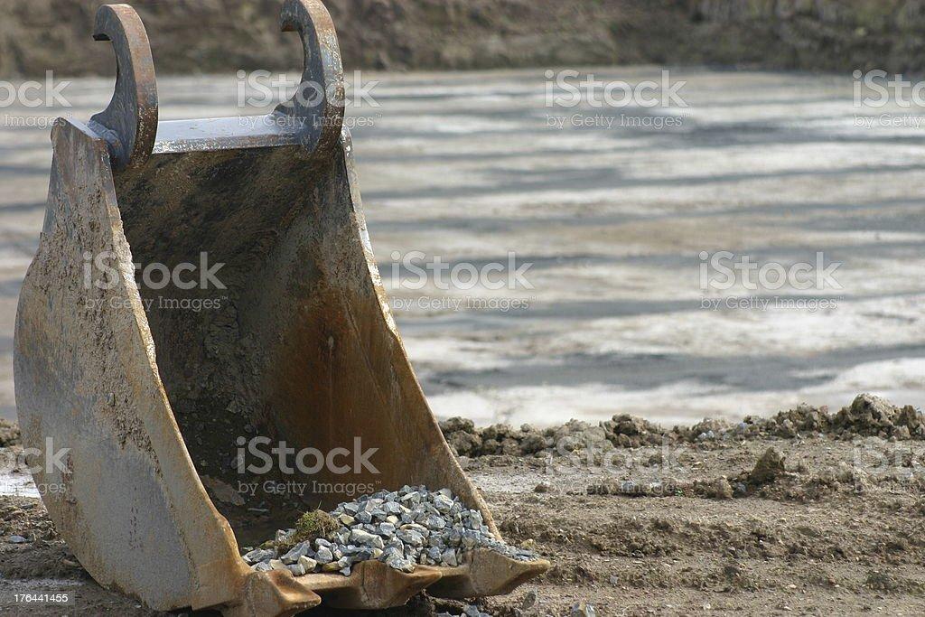 Excavator shovel royalty-free stock photo