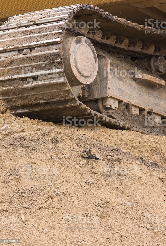 Excavator Track auf Hill Lizenzfreies stock-foto
