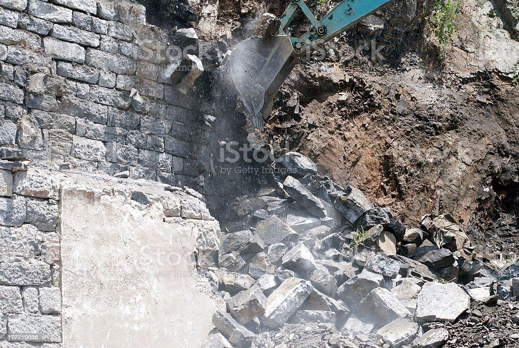 Excavator working royalty-free stock photo