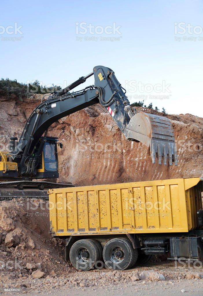 Excavator Works stock photo
