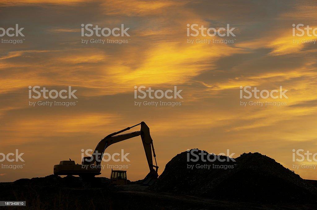 Excavtor Silhouette royalty-free stock photo