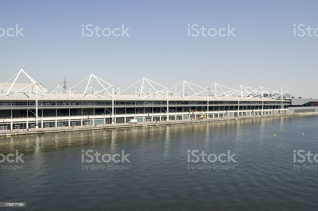 Excel Centre, Royal Victoria Docks stock photo