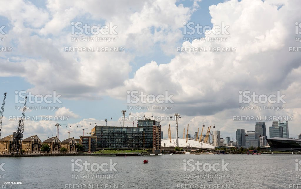 ExCel Exhibition Center in London stock photo