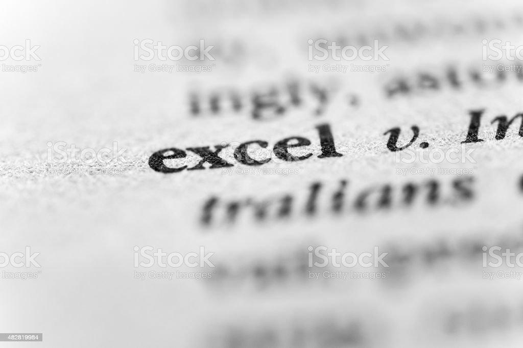 Excel stock photo