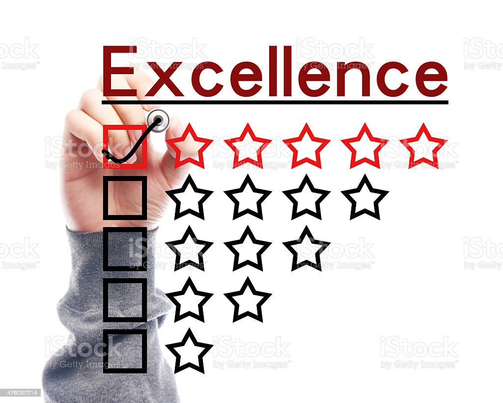 Excellence concept stock photo