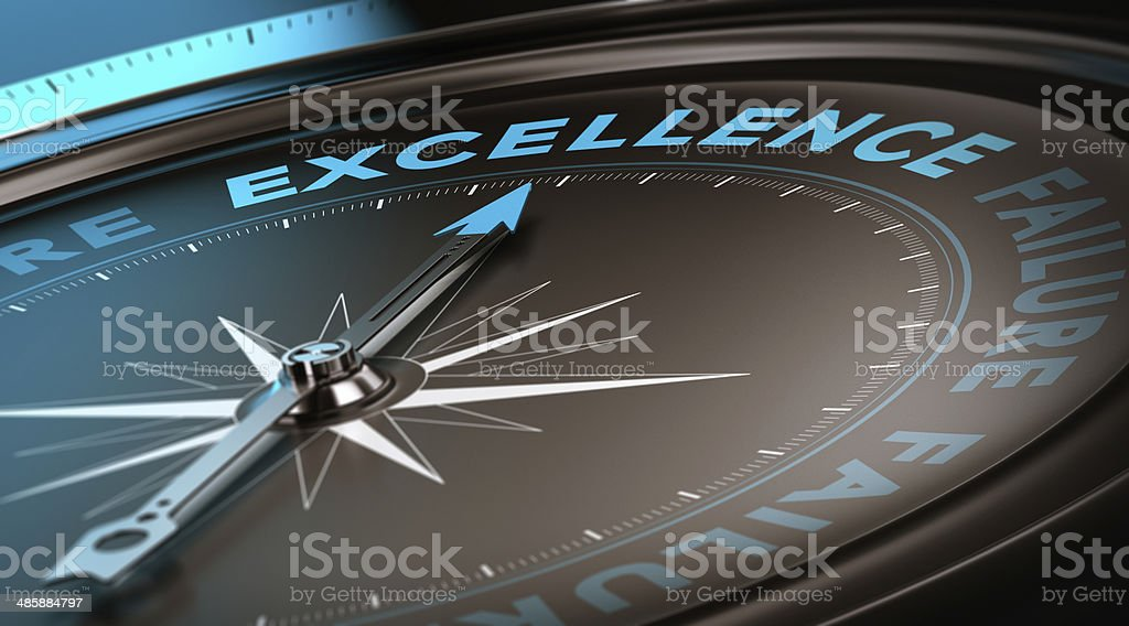 Excellence Concept, Quality Service stock photo