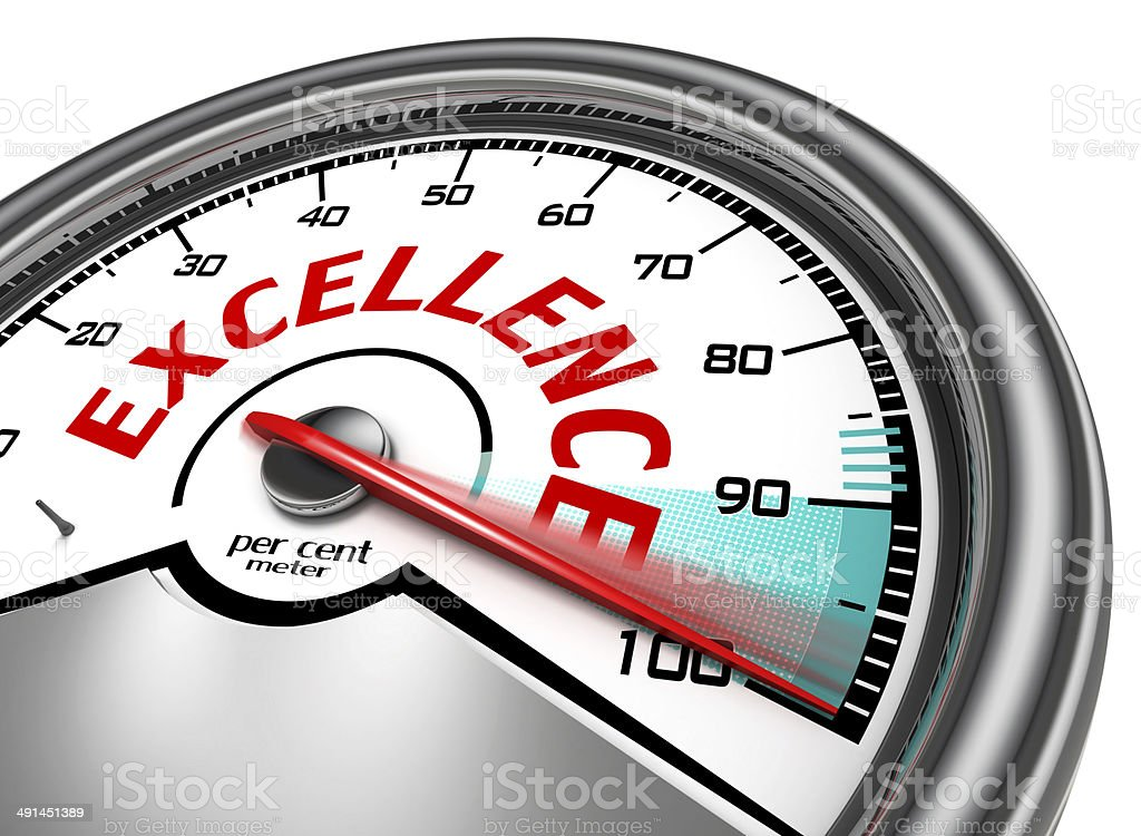 excellence conceptual meter stock photo
