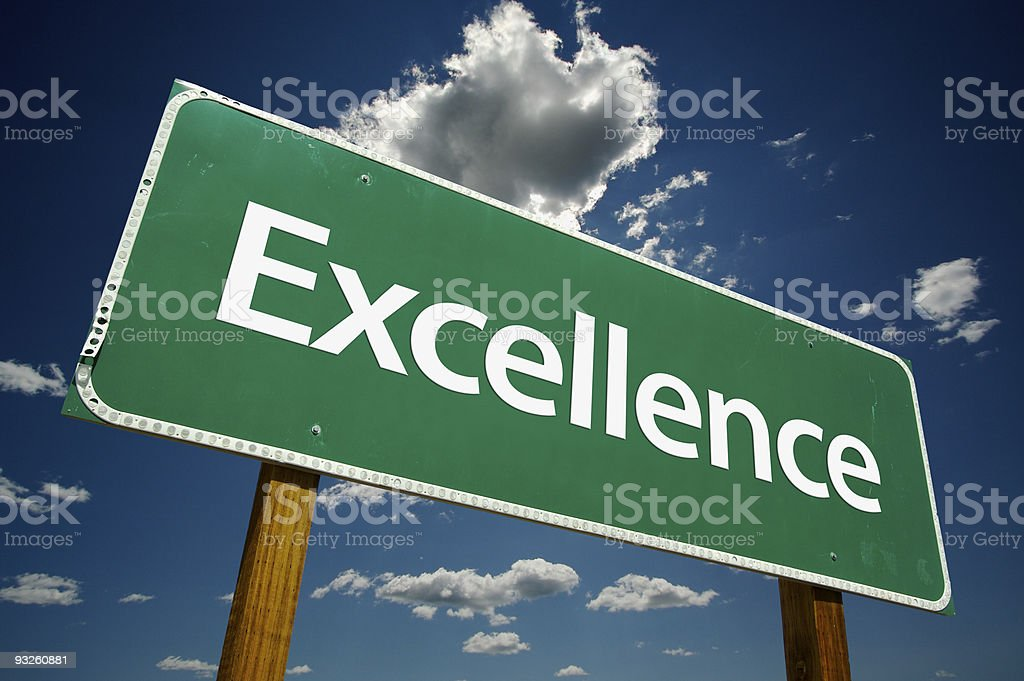 Excellence Green Road Sign royalty-free stock photo
