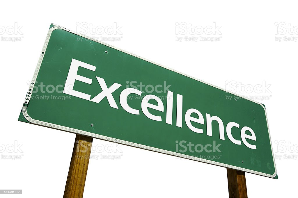 Excellence Road Sign Isolated royalty-free stock photo