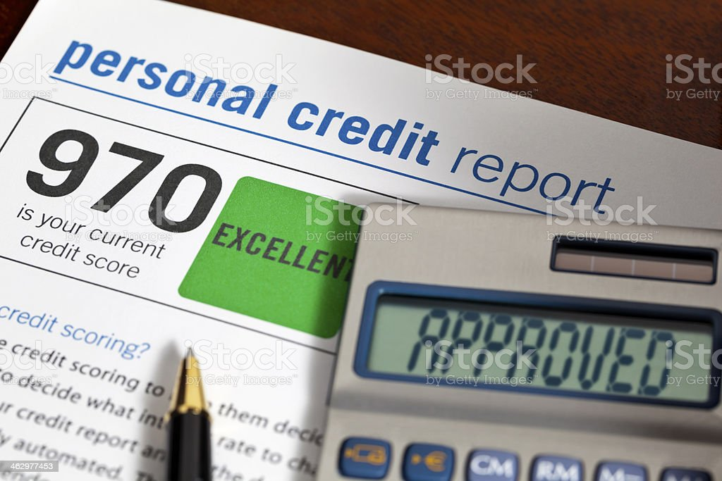 Excellent Credit Score Approved stock photo