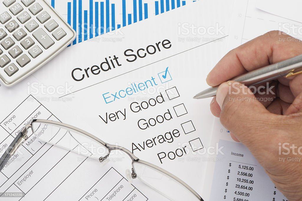 Excellent Credit Score stock photo