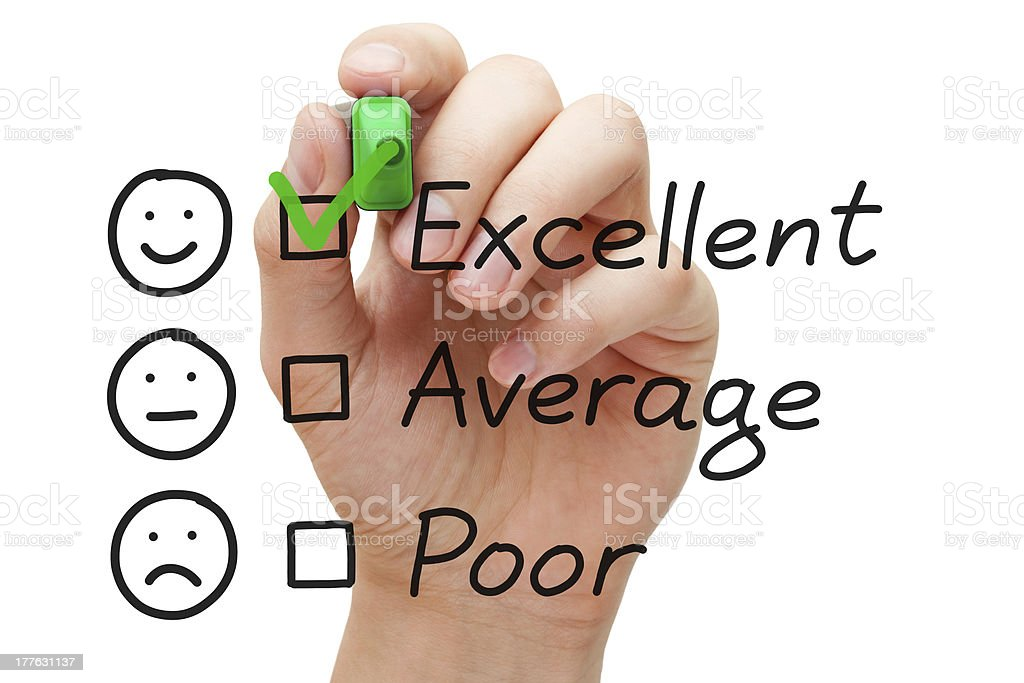 Excellent Customer Service Evaluation Form royalty-free stock photo