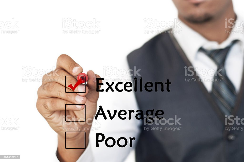 Excellent Customer Service Evaluation Form stock photo