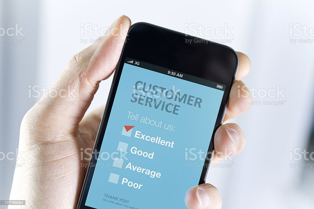 Excellent customer service support stock photo