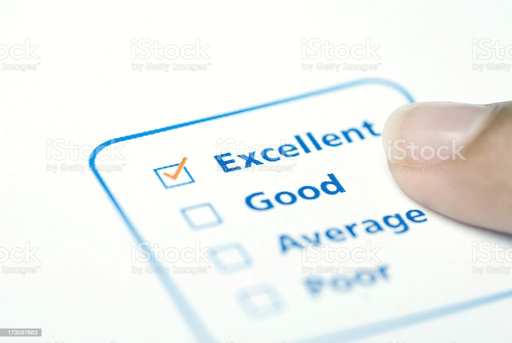 excellent decision royalty-free stock photo