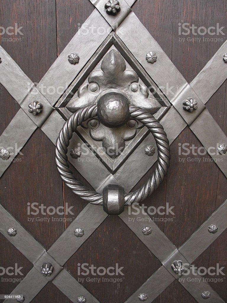 Excellent old door knocker royalty-free stock photo