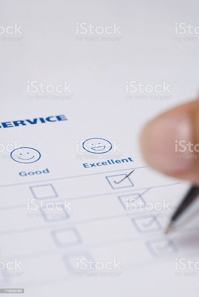 Excellent service royalty-free stock photo
