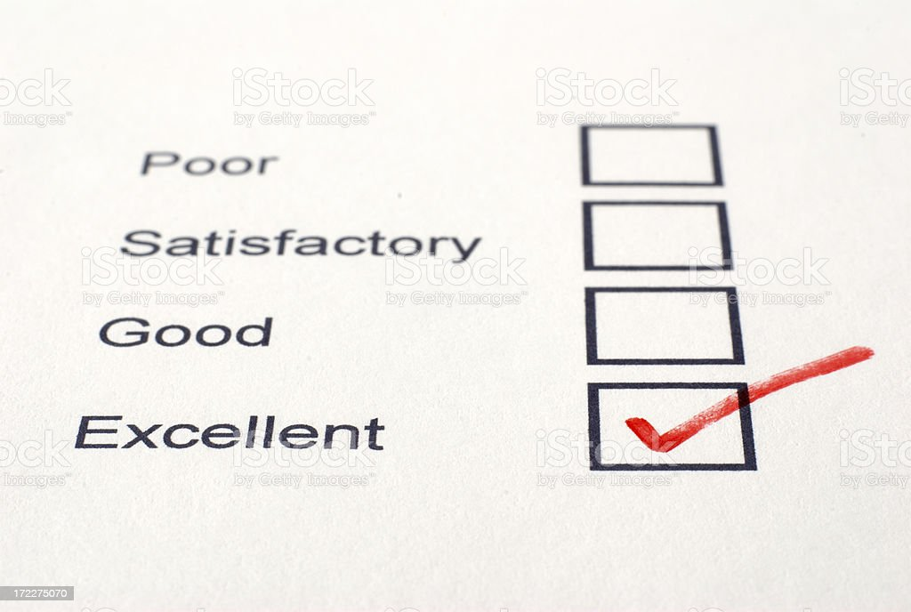 Excellent Survey royalty-free stock photo