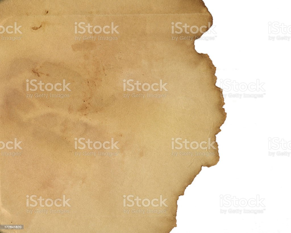 Excellent torn vintage paper royalty-free stock photo