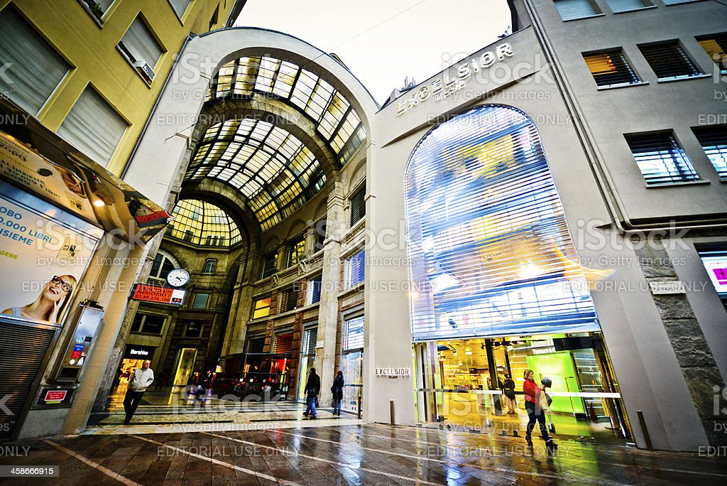 Excelsior Department Store in Milan, Italy stock photo