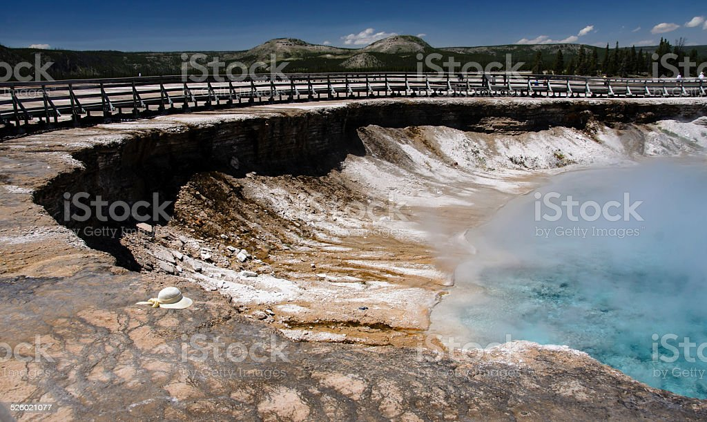 Excelsior geyser crater in Yellowstone stock photo