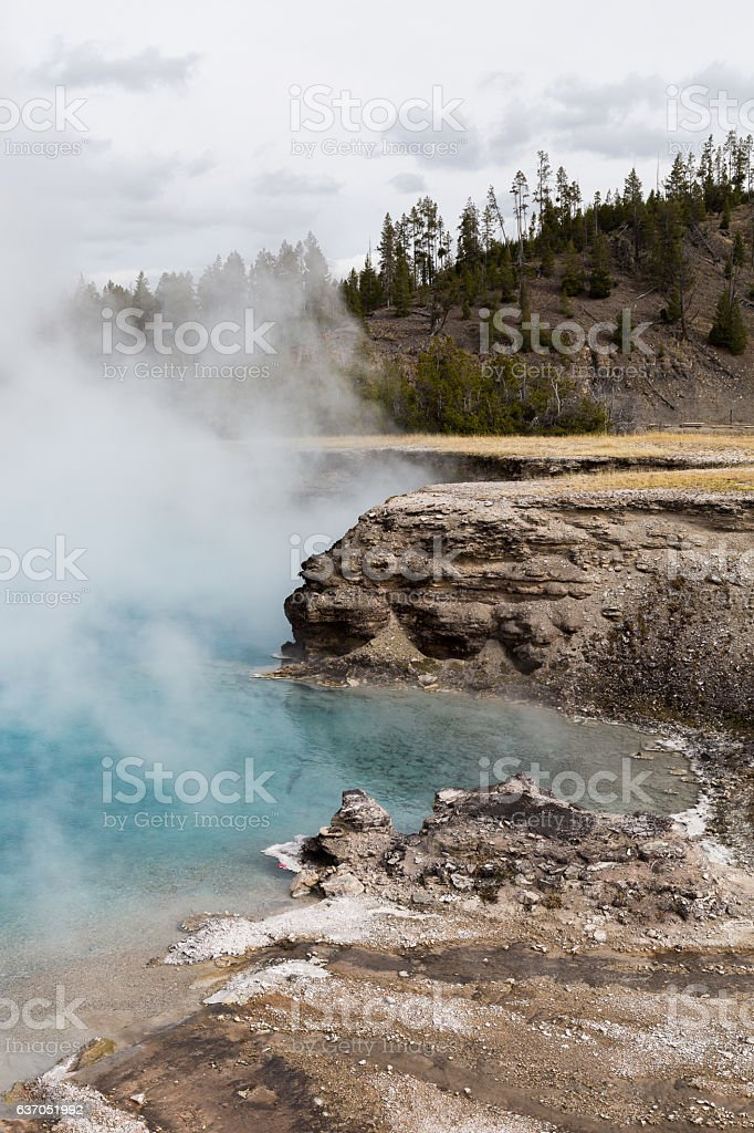 Excelsior Geyser Crater stock photo