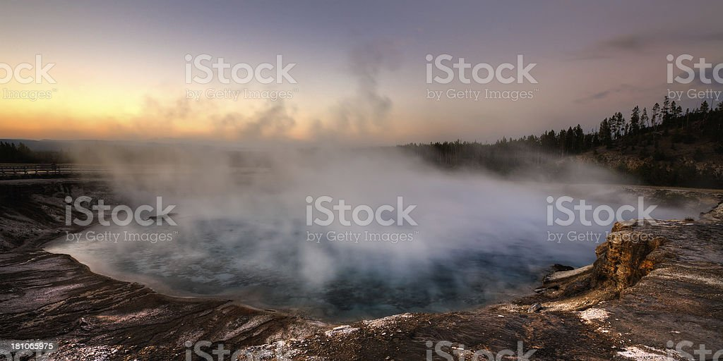 Excelsior Geyser Crater - Yellowstone National Park stock photo