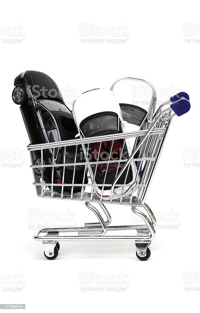 Exceptional offer of automobiles stock photo