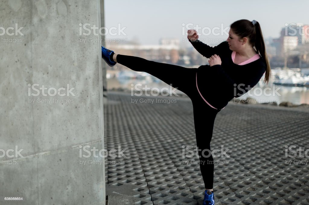 Excercise for fun stock photo
