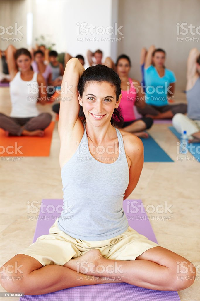 Excercising every muscle group royalty-free stock photo