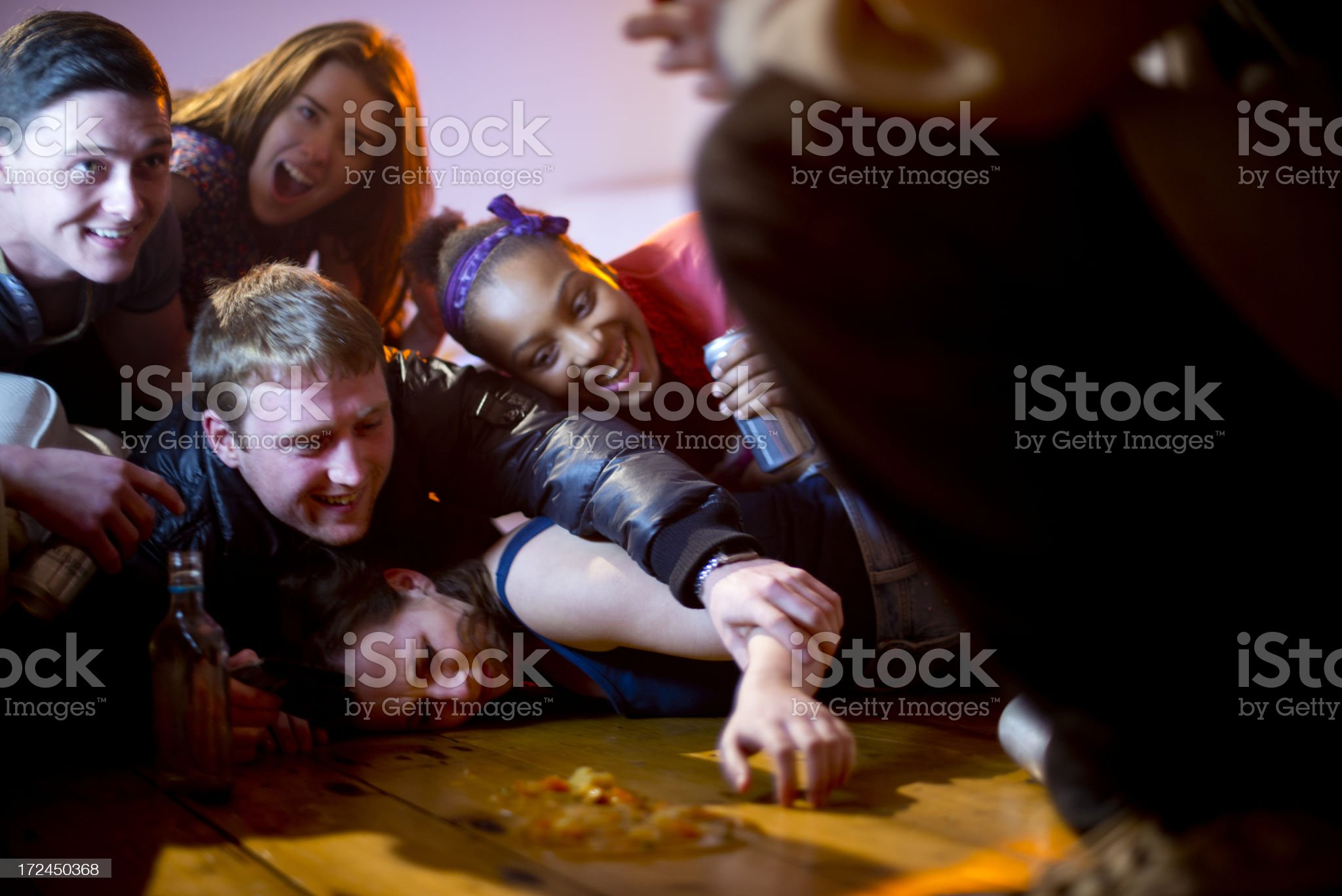 excess at a teenager house party royalty-free stock photo