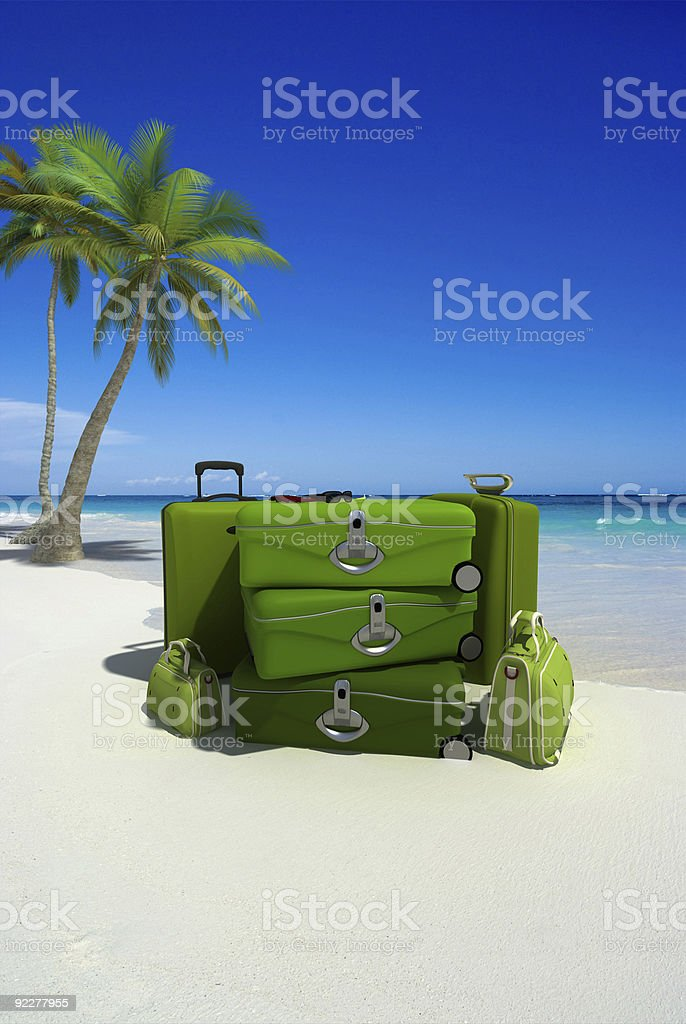 Excess luggage stock photo