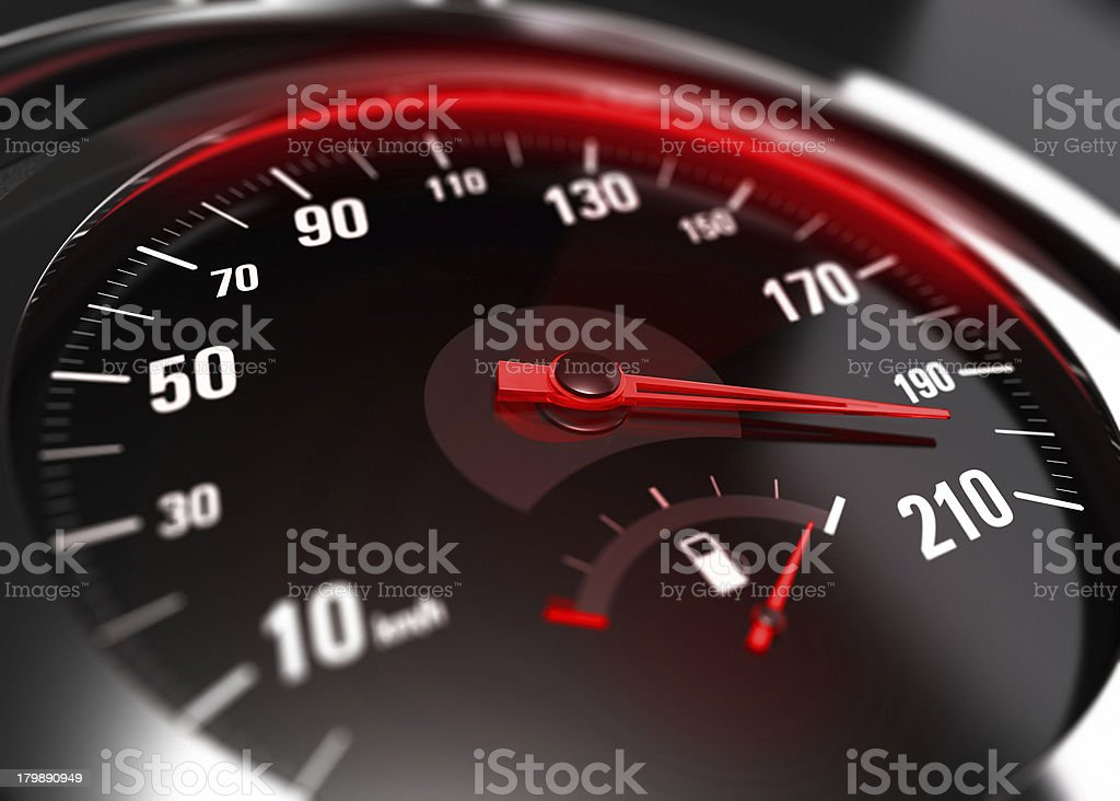 Excessive Speeding Careless Driving Concept stock photo
