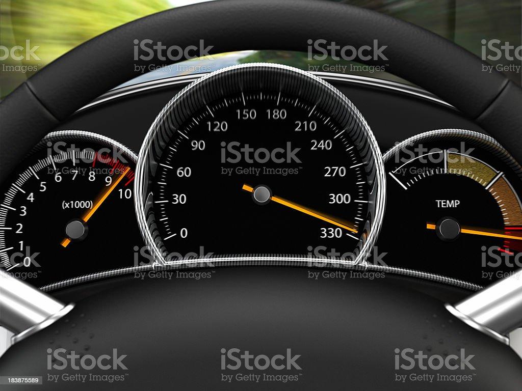 Excessive Speeding royalty-free stock photo