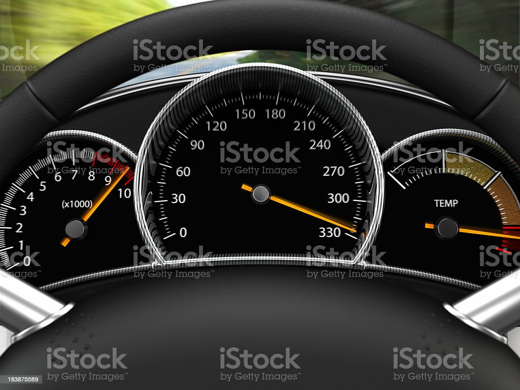 Excessive Speeding stock photo