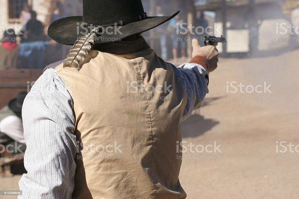 Exchange of Gunfire royalty-free stock photo