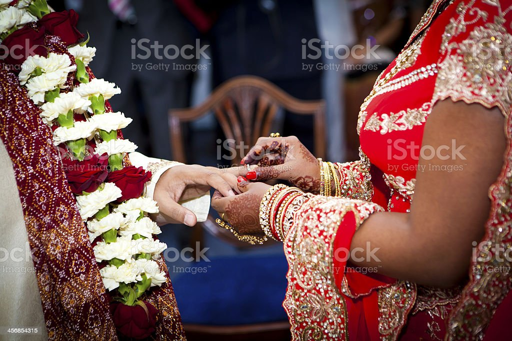 Exchange of rings royalty-free stock photo