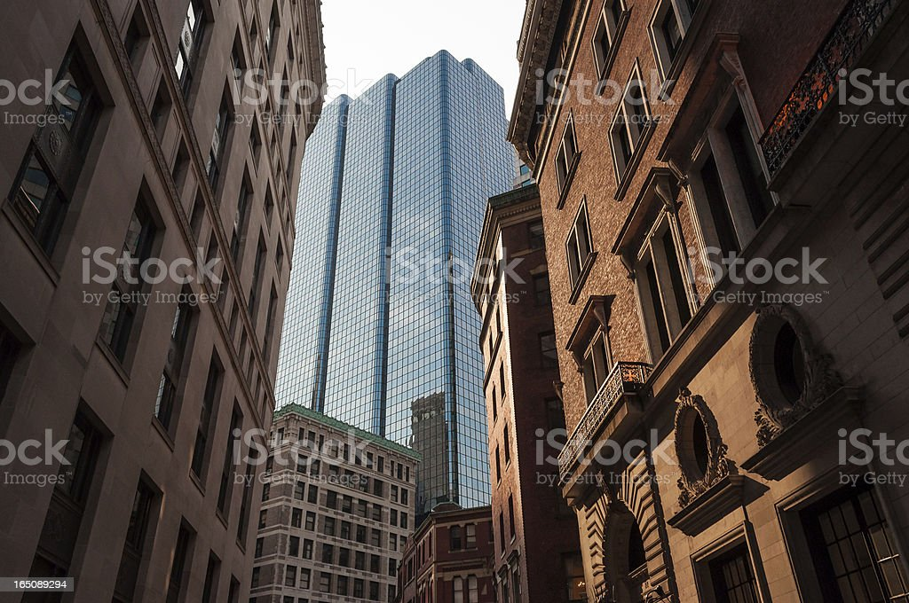 Exchange Place, Boston royalty-free stock photo