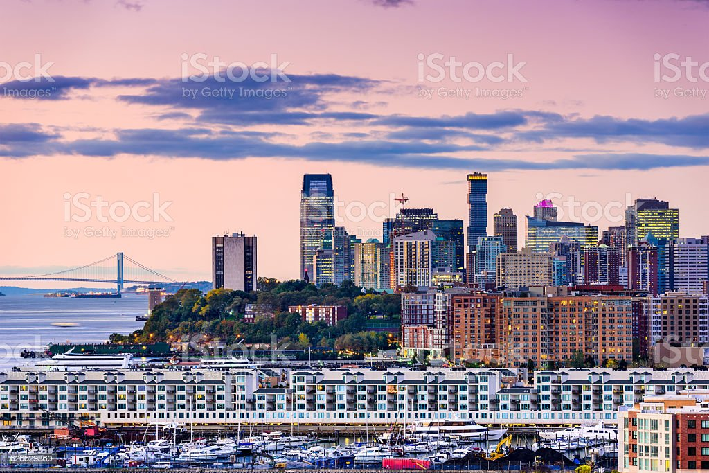 Exchange Place New Jersey stock photo