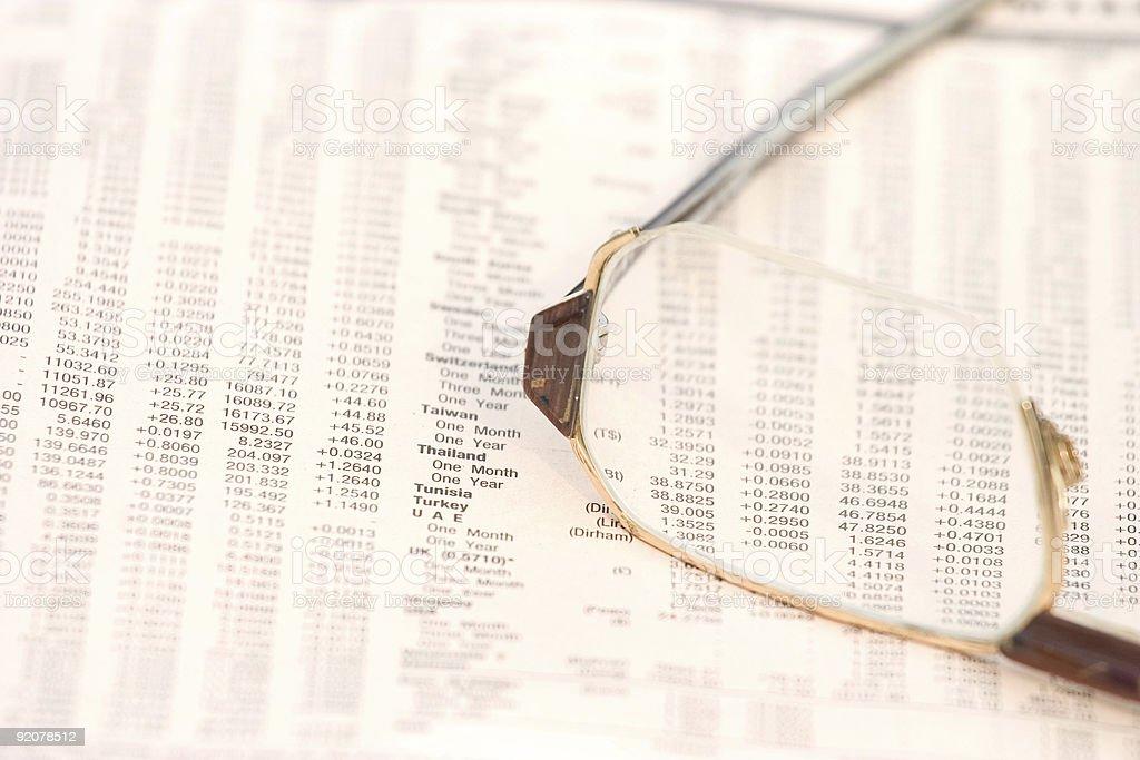 Exchange rates royalty-free stock photo