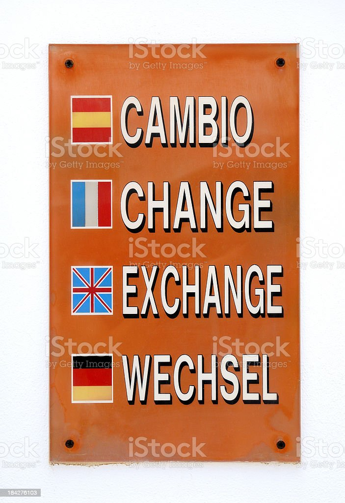 Exchange sign royalty-free stock photo