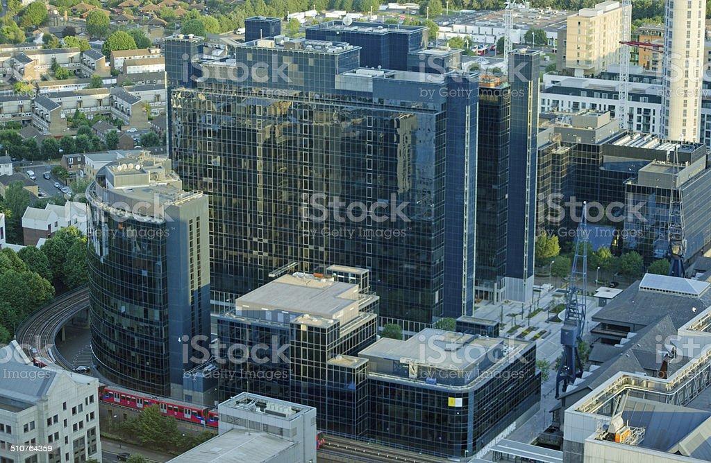 Exchange Tower, London Docklands stock photo